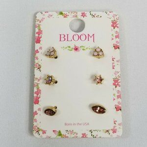 Bloom Mini Multiple Stud Earrings Set New Fashion